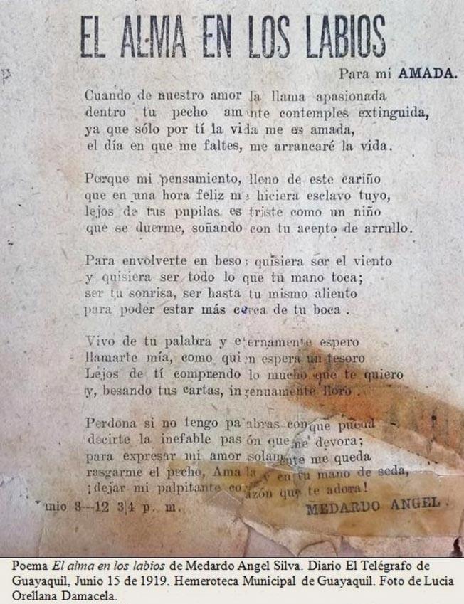 El Alma En Los Labios Analisis Del Poema De Medardo Angel Silva Foros Ecuador