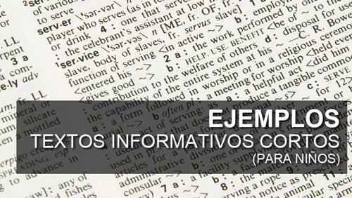 Ejemplo de un Texto Informativo corto (para niños de primaria)
