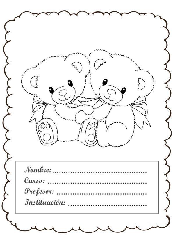 +47 Carátulas (fáciles) para Cuadernos de Niños y Niñas ...