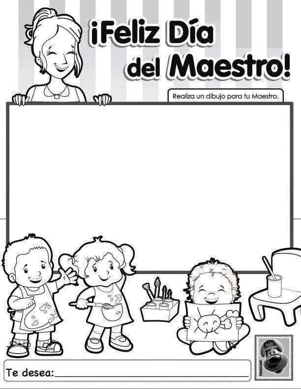 Vistoso Apreciación Del Maestro Para Colorear Adorno - Dibujos Para ...