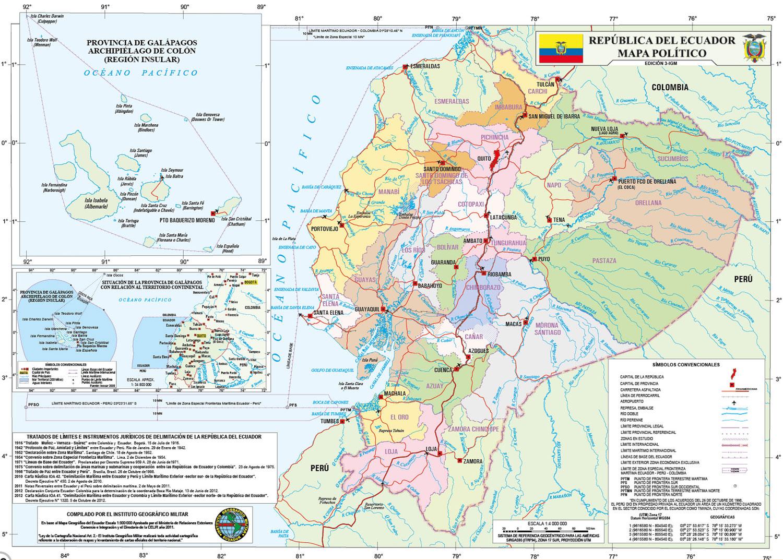 Mapa Del Ecuador Con Sus Provincias Y Capitales Mapa Político Para Colorear Foros Ecuador