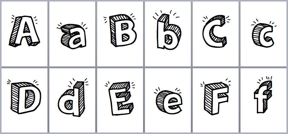 Moldes De Letras Para Imprimir Y Recortar Grandes Word Y Pdf