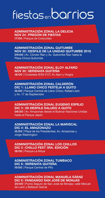 Cronograma De Fiestas De Quito 2018 Calendario De Actividades